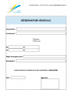 Réservation véhicules