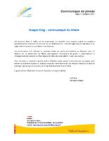 Communiqué de presse de Christian Sinsard – Ville Aubière _ BK le 12.10.2017