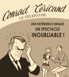 CONRAD TERICAND, LE TELEPATHE @ Salle Albéria, en mairie d'Aubière