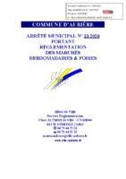 Règlement marchés et foires 2020